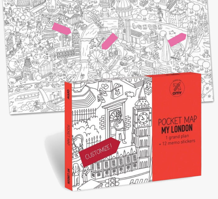 OMY London city Coloring Poster Map - Pocket