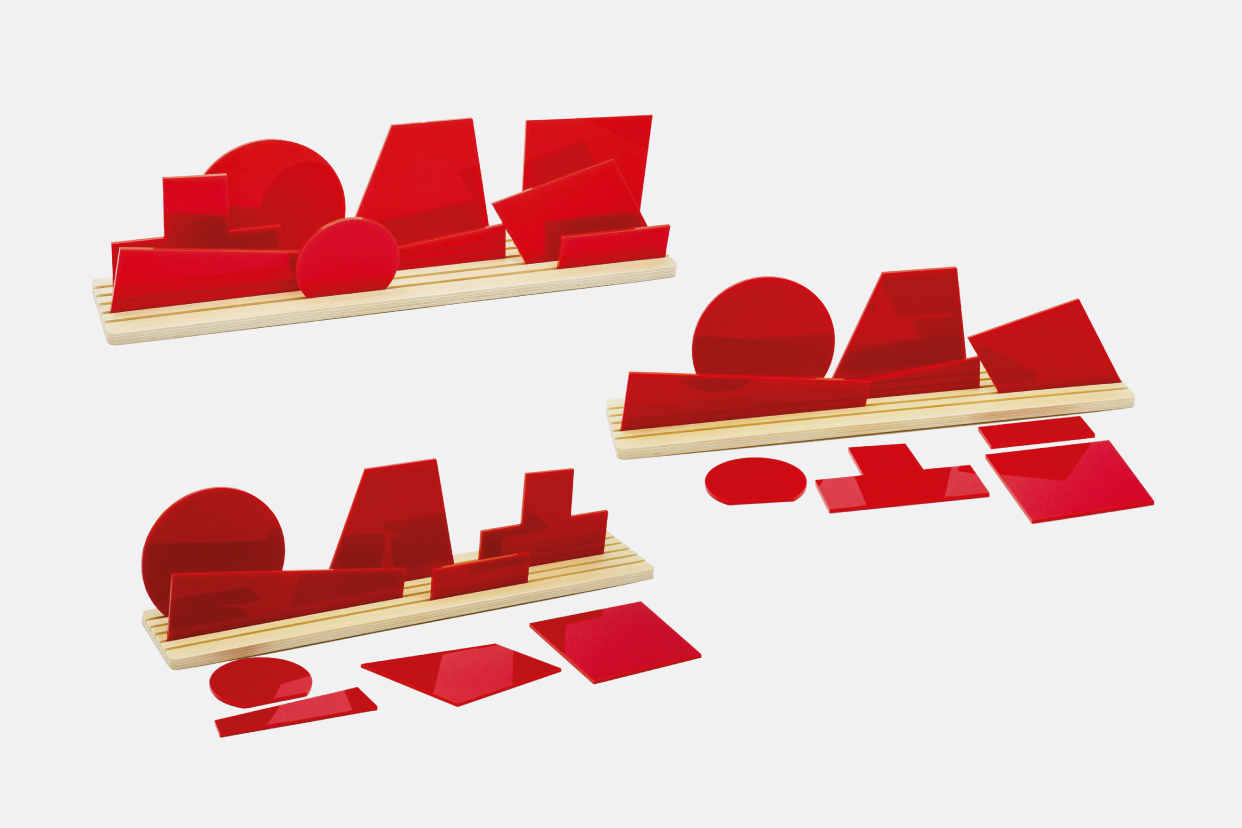 Shapes of Suprematism Red - Movable diorama puzzle