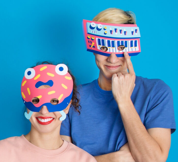 OMY Party - 8 Colored Paper Costume Masks