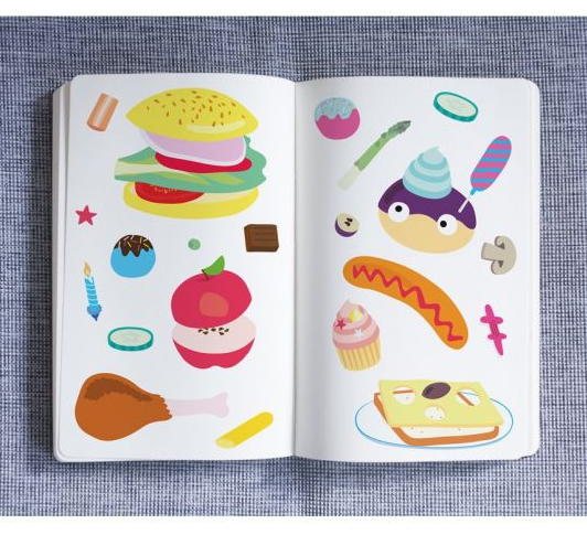 OMY Food - 100 Repositionable Stickers