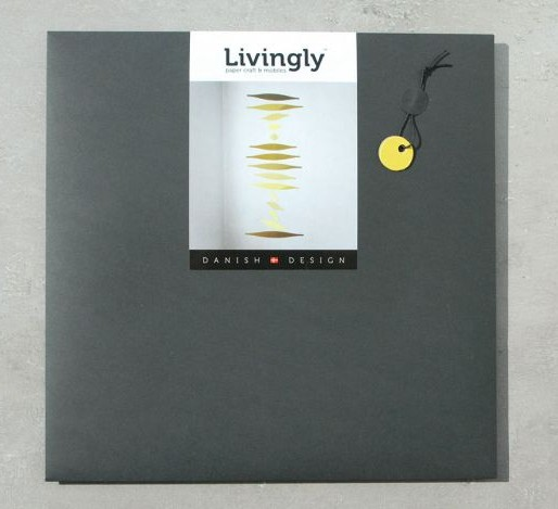 LIVINGLY Density Hanging Mobile art - Yellow colors