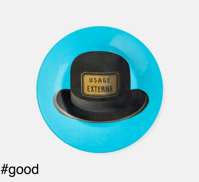magritte hat plate