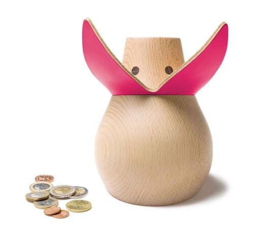 Miss Monnipenni (wooden Piggy Bank) - Various colors