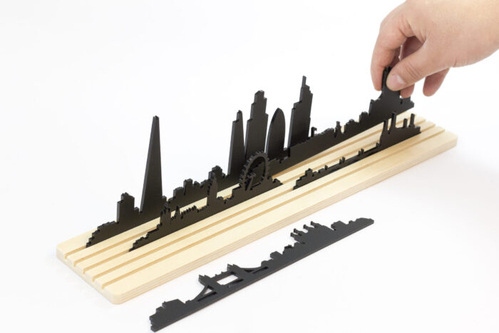 Shapes of London skyline - Movable city diorama