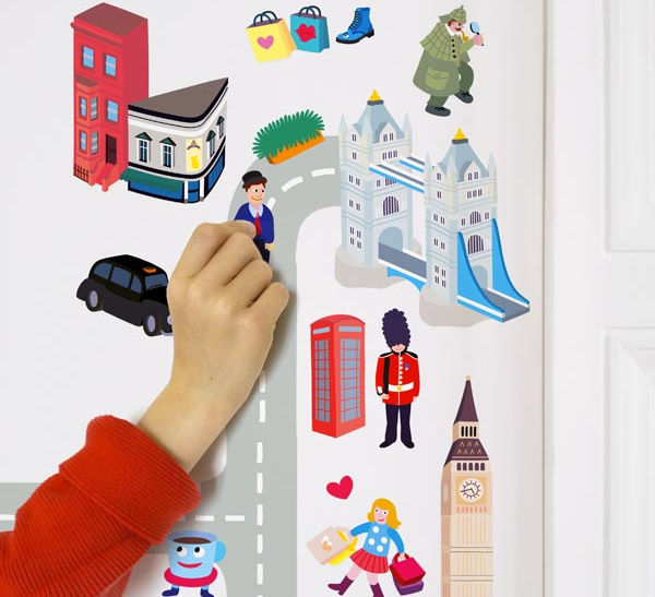 OMY London - 100 Repositionable Stickers