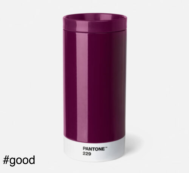 pantone to go thermo steel to go bottle purple