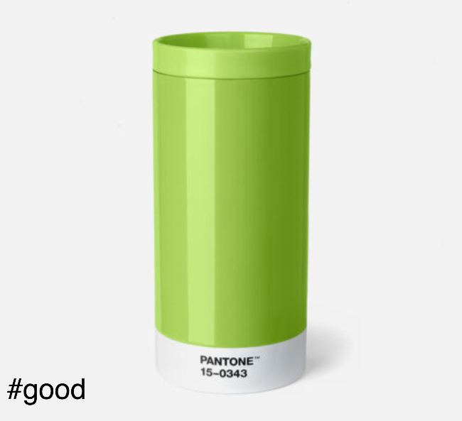 pantone to go thermo steel to go bottle green