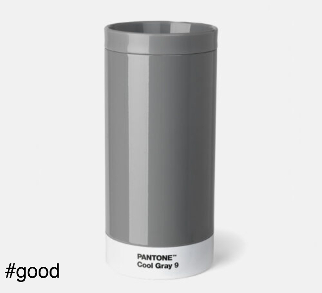 pantone to go thermo steel to go bottle grey