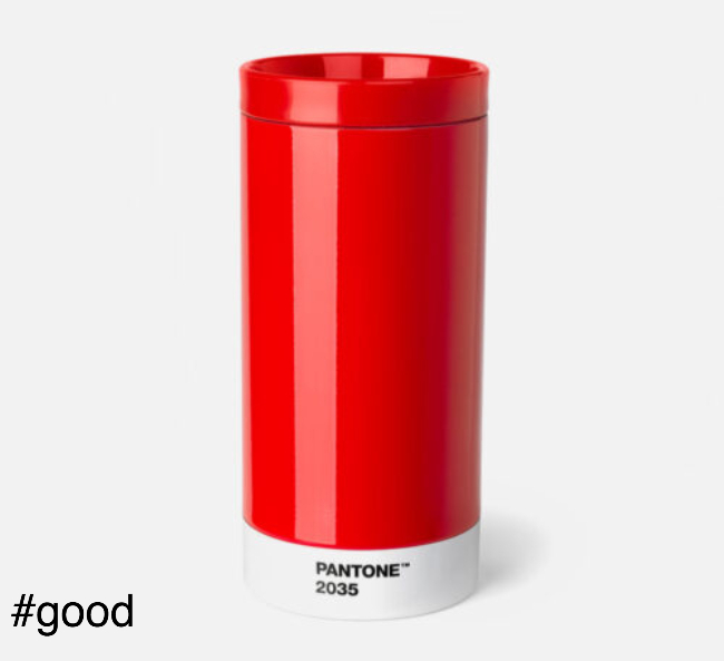 pantone to go thermo steel to go bottle red