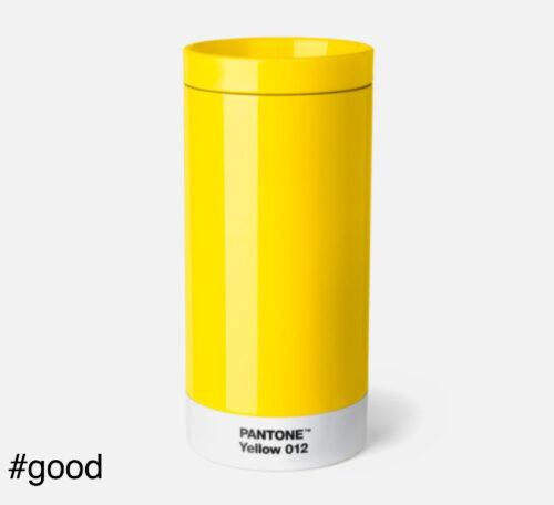pantone to go thermo steel to go bottle yellow