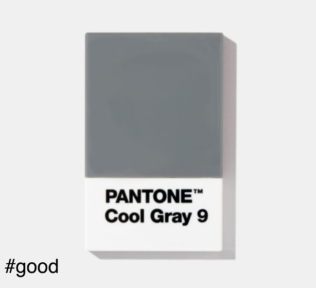 pantone card holder grey