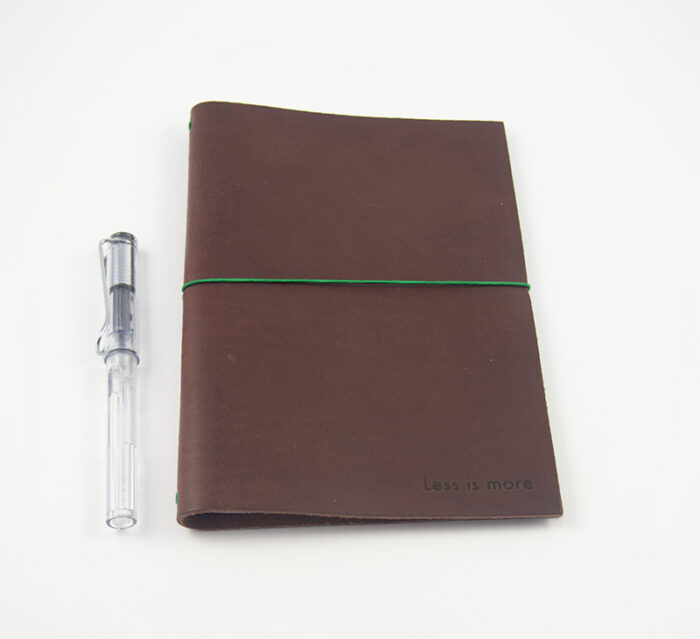 PAPER REPUBLIC Less but better A5 Leather Journal pack - Chestnut XL notebook