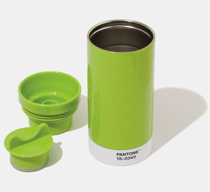 PANTONE Steel To Go Thermo cup with cover - Green 15-0343
