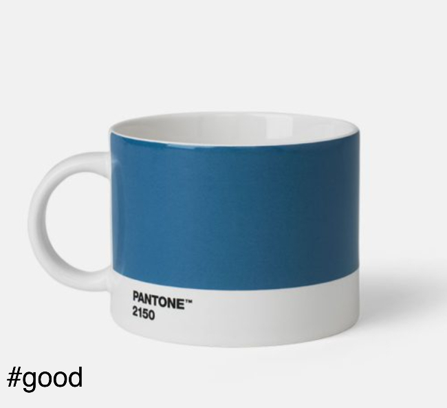 large tea cup pantone blue