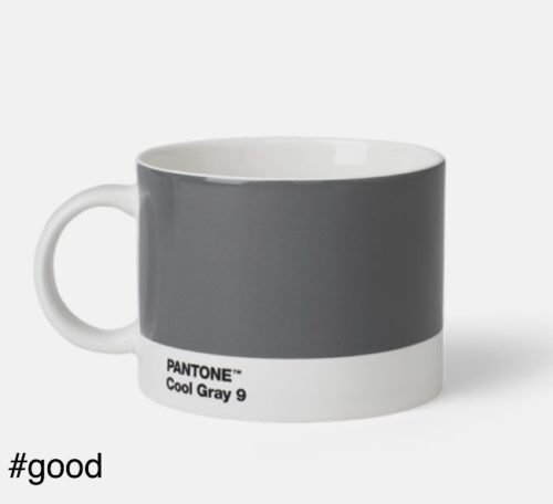large tea cup pantone grey