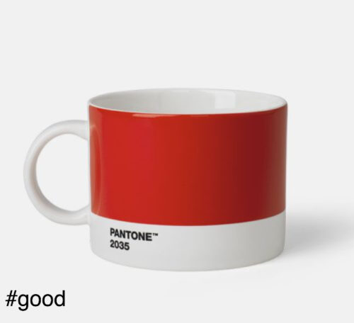 large tea cup pantone red