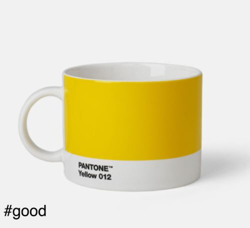 large tea cup pantone yellow