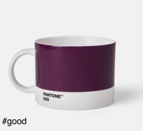 large tea cup pantone purple