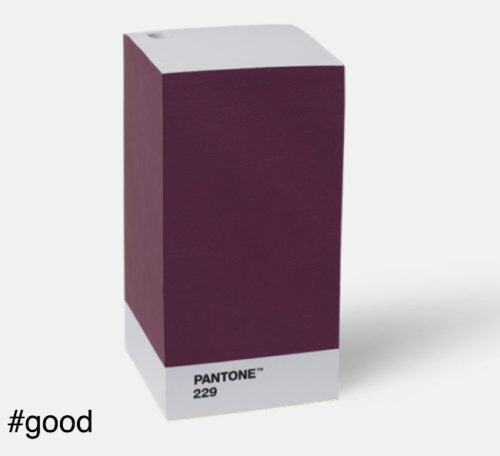 note pad purple pantone