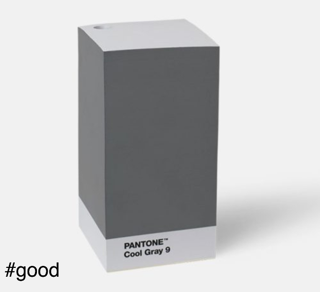 note pad grey pantone