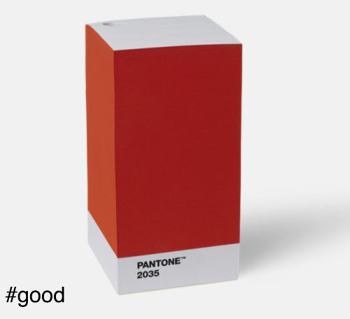 note pad red pantone