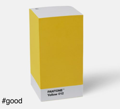note pad yellow pantone