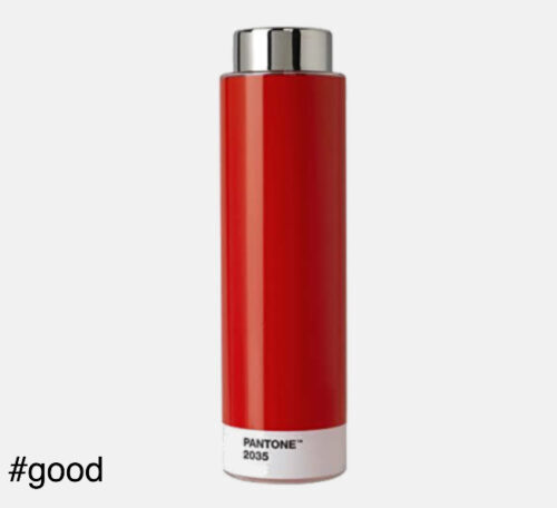 pantone tritan plastic bottle red