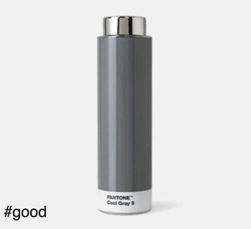 pantone tritan plastic bottle grey
