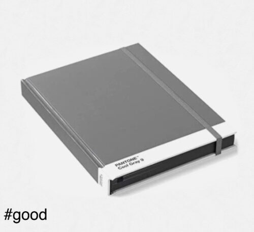 notebook pantone grey