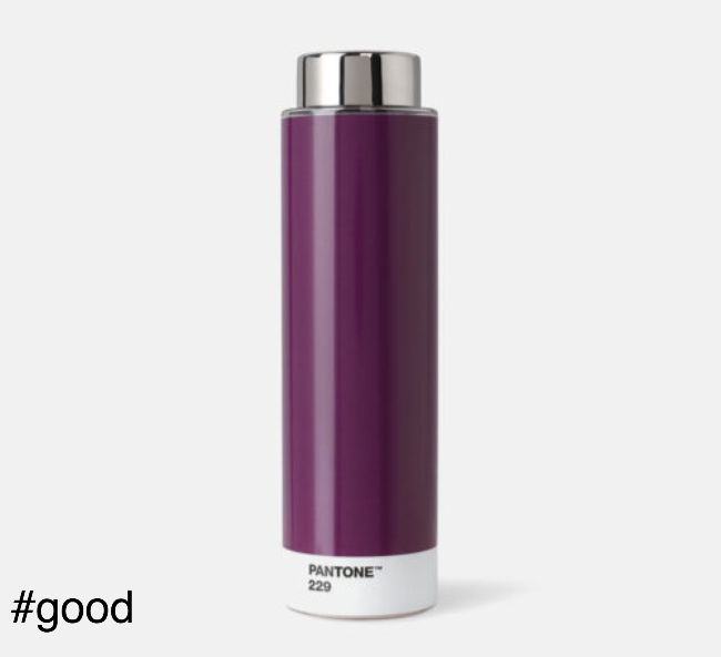 pantone tritan plastic bottle purple