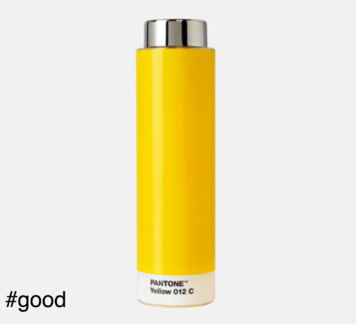 pantone tritan plastic bottle yellow