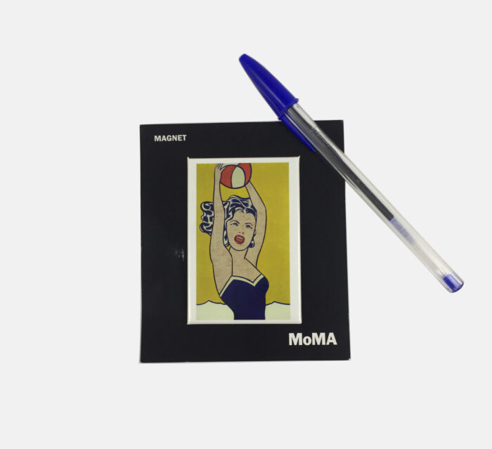 MoMA NY Roy Lichtenstein Magnet – Girl with ball
