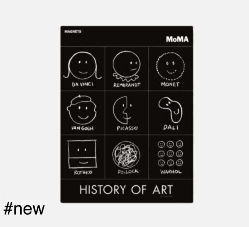 history of art magnets moma