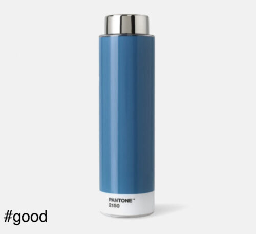 pantone tritan plastic bottle blue