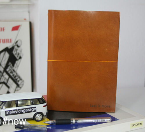 cognac leather journal notebook mies van der rohe