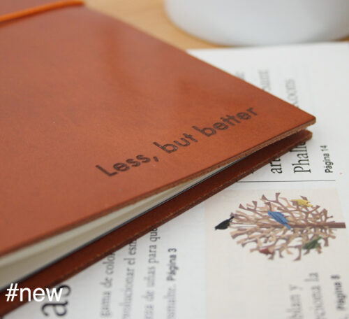 less but better cognac color leather journal mies