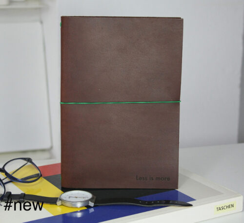 less is more large leather journal notebook refill mies