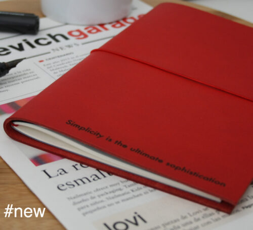 simplicity is red xl leather journal