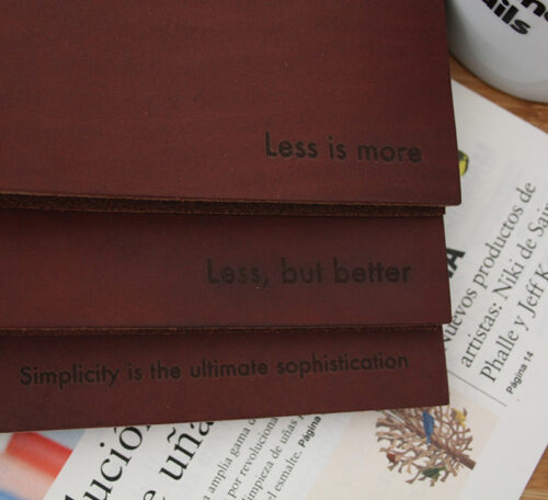 leather journal chestnut dark brown vachetta leather mies