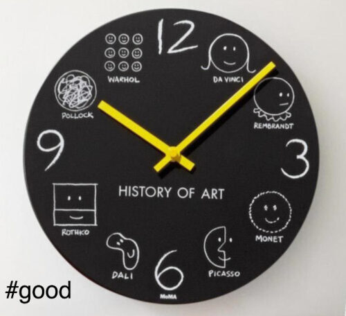 moma history of art clock