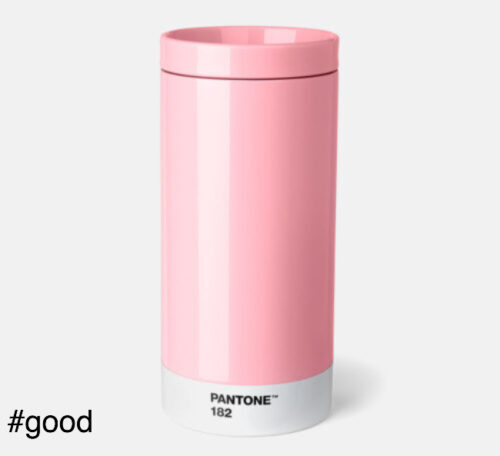 pantone to go thermo steel to go bottle pink