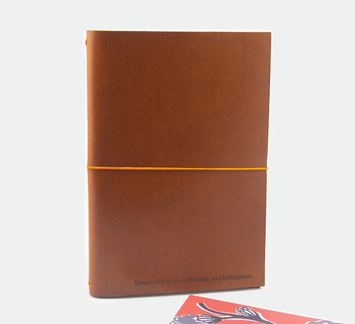 PAPER REPUBLIC Simplicity is... A5 Leather Journal pack - Cognac XL notebook