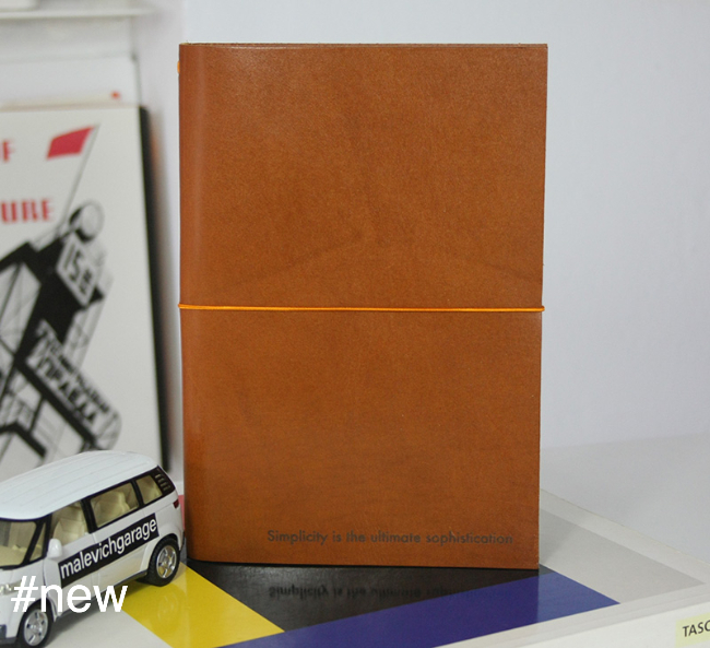 simplicity is leather journal a5 mies cognac