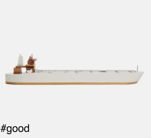 ti asia grey papafoxtrot ship supertanker toy