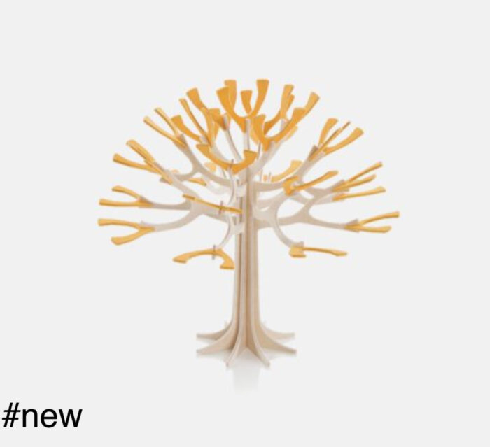 fruit tree yellow leaves wooden toy figure