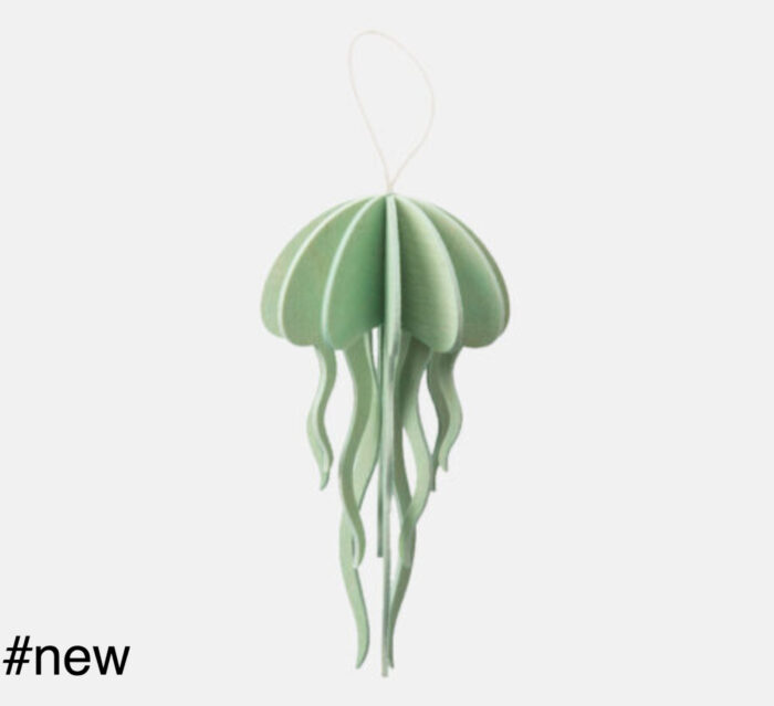 jellyfish wooden toy animal figure