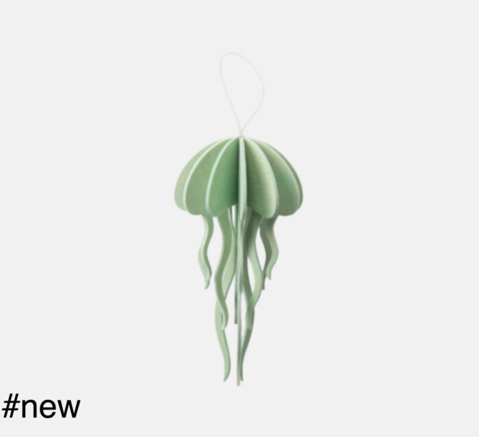 jellyfish light green toy wooden figure lovi