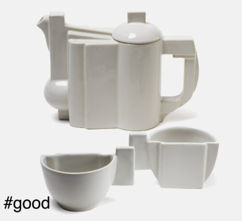 kazimir malevich suprematist teapot set in ceramic original