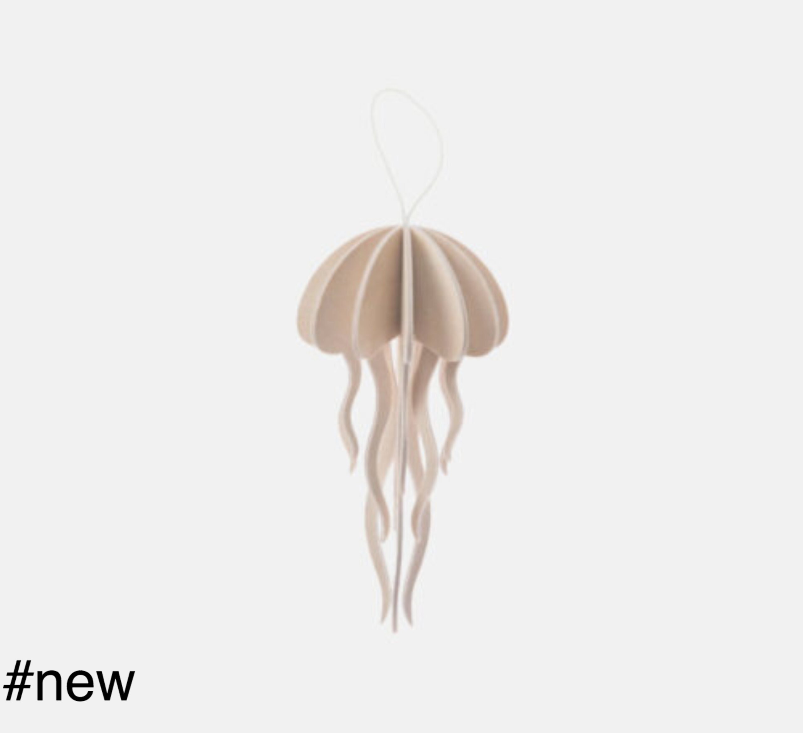 natural wood jellyfish 8 cm lovi toy figure