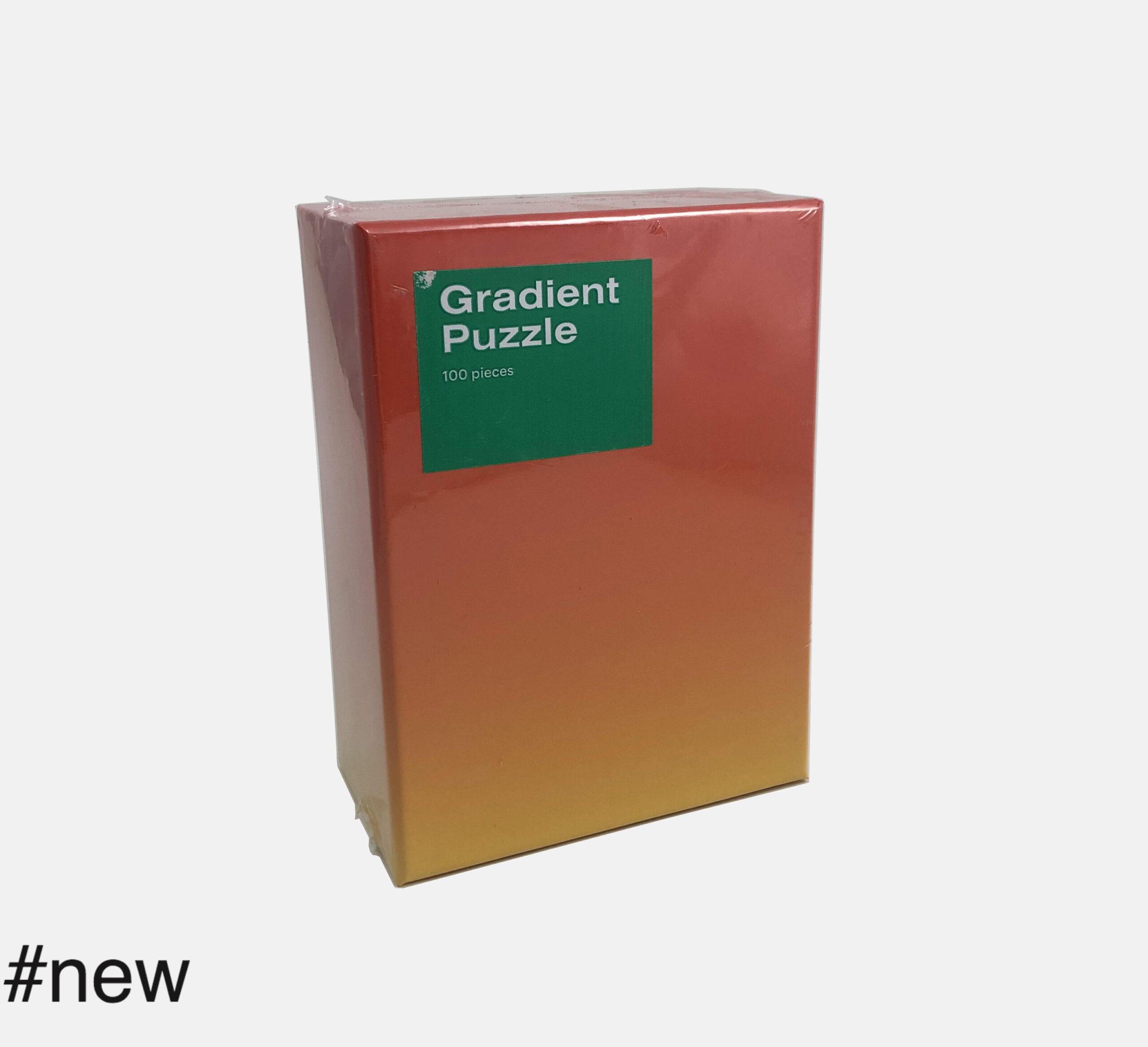 areaware 100 piece gradient puzzle red yellow